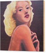 Betty Grable Wood Print