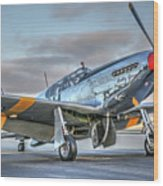 Betty Jane P51d Mustang At Livermore Wood Print
