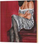 Betty Page 2 Wood Print