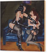 Betty Page And Friend 2 Wood Print
