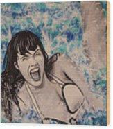 Betty Page Wood Print
