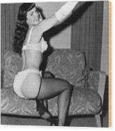 Betty Page Pin Up Girl 1950 Wood Print