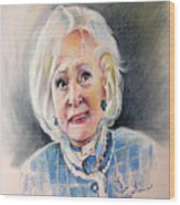 Betty White In Boston Legal Wood Print