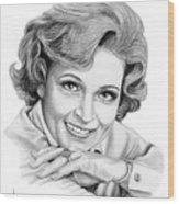 Betty White Wood Print