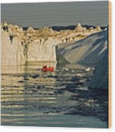 Between Icebergs - Greenland Wood Print