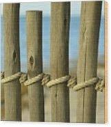 Between Lines Wood Print