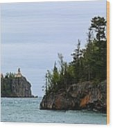 Between Rocks Panorama Wood Print