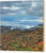Between The Clouds Blue Ridge Parkway North Carolina Art Wood Print