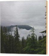 Between The Clouds Wood Print