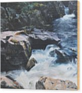 Betws-y-coed Waterfall Wood Print