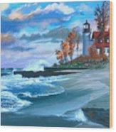 Betzie Lighthouse Wood Print