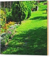 Beutifull Garden Wood Print