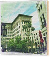 Beverly Hills Rodeo Drive 3 Wood Print