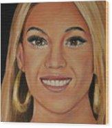 Beyonce Celebrity Painting Wood Print