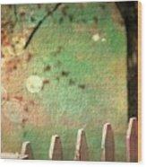 Beyond Fenceposts Wood Print