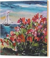 Beyond Sea Roses Wood Print