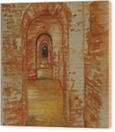Beyond The Black Door Wood Print
