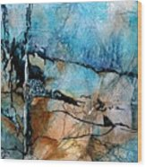 Beyond The Forest Line Wood Print
