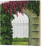Beyond The Gates Wood Print