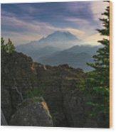 Beyond The Ridge Wood Print