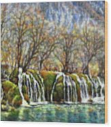 Beyond The Snowy Mountains Wood Print