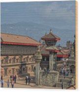Bhaktapur Durbar Square In Kathmandu Valley, Nepal Wood Print