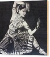 Bharatnatyam Wood Print