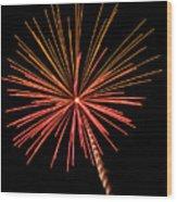 Bi-color Fireworks 2 Wood Print