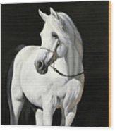 Bianco Su Nero Wood Print