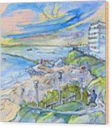 Biarritz 26 Wood Print