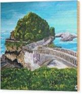 Biarritz Bridge Wood Print