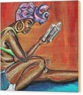 Bible Reading Wood Print