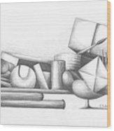 Bibliotheque Wood Print