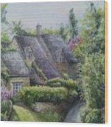 Bibury Village Wood Print