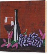 Bicchiere Di Vino Wood Print