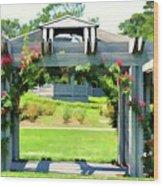 Bicentennial Rose Garden Wood Print
