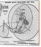 Bicycle, 1884 Wood Print