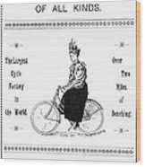 Bicycle, 1897 Wood Print