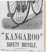Bicycle Ad, 1885 Wood Print