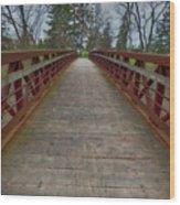 Bicycle Bridge - Niagara On The Lake Wood Print