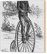 Bicycle, C1870s Wood Print by Granger
