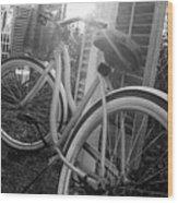 Bicycle In The Sun Wood Print