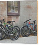 Bicycle Parking Wood Print