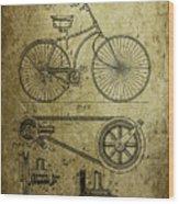 Bicycle Patent  1890 Wood Print