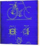 Bicycle Patent Drawing 4b Wood Print