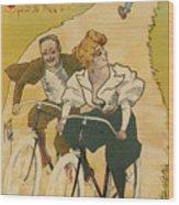 Bicycle Poster, 1895 Wood Print