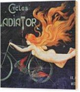 Bicycle Poster, C1905 Wood Print