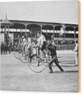 Bicycle Race, 1890 Wood Print