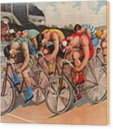 Bicycle Race 1895 Wood Print