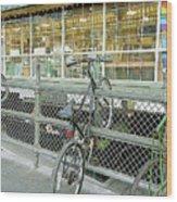 Bicycle Rack Wood Print
